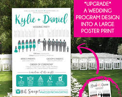 cost of wedding programs silhouette wedding program vertical layout stacked names