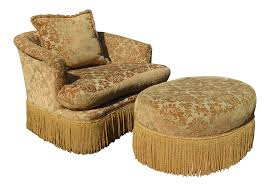 Loveseat Ottoman Vintage U0026 Used Traditional Chair And Ottoman Sets Chairish