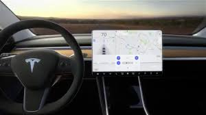 tesla model 3 tesla model 3 electric car has no instruments just a 15 inch