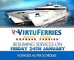 Resuming M V Jean De La Valette Shall Be Resuming Services On Friday 24th