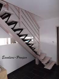 escalier peint en gris escalier 1 4 tournant métiss à limons droit limon métiss en