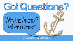 Love Anchors The Soul Hebrews - why the anchor and what is a chrismon 盪 reasons for hope jesus