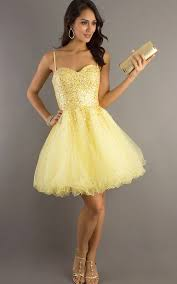 cheap short yellow prom dresses holiday dresses