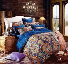 King Size Duvet Sets Uk Egyptian Cotton Blue Satin Luxury Hotel Bedding Sets King Queen