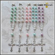 baby rosary bracelet 50pcs lot catholic multi colors pearl glass rosary bracelet