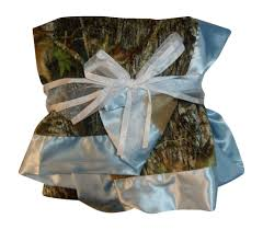 mossy oak blue baby blanket 34x34
