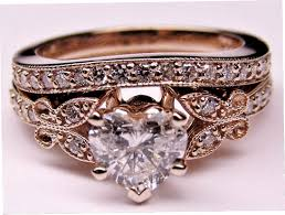 antique rose rings images Engagement ring heart shape diamond butterfly vintage engagement jpg
