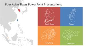 East And Southeast Asia Map by South East Asia Map And The Four Asian Tigers Slidemodel