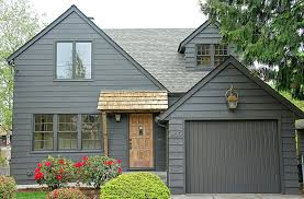 color house paint outside painted brick facade exterior with black