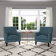 Yuri Fabric Accent Chair Pack Basil Gray Project Harper - Blue accent chairs for living room