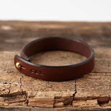 leather bracelet wristband images Personalised stamped leather bracelet by sally clay jpg