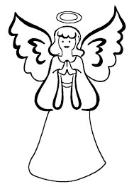printable angel coloring pages coloring me simple angel coloring