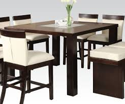 counter dining chairs acme keelin counter height table with insert table top in espresso