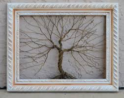original wire tree abstract sculpture painting от amygiacomelli