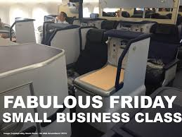 fabulous fridays small business class cabin sections for extra