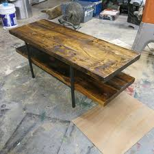Barn Board Coffee Table Build A Table From Old Barn Board 7 Steps With Pictures