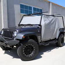 jeep jku half doors 2007 2016 jeep jk 4 door waterproof cab cover gray tuff stuff