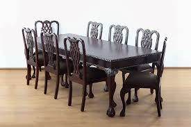 Chippendale Dining Room Set by Mahogany Solid Wood Antique Chippendale Dining Table Replica