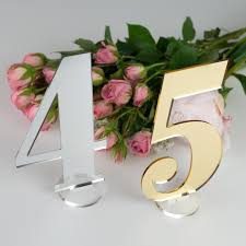 silver wedding table numbers acrylic wedding table numbers personalised favours
