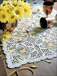 Crochet Table Runner Pattern Crochet Kitchen Decor Daisy Table Runner Free Crochet