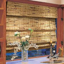 Cheap Matchstick Blinds Ideas Nice Bamboo Roman Shades For Window Covering Idea