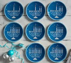 hanukkah plates hanukkah set of 8 plates pottery barn kids