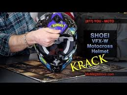 motocross helmet review shoei vfx w motocross helmet review at mxmegastore com youtube