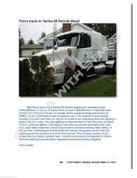 volvo heavy truck testimonial volvo semi truck series 60 detroit diesel document