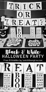 black and white halloween party black and white halloween party printables i watch them grow