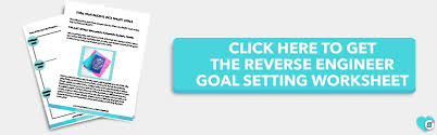 goal setting worksheet free reverse engineering what is perfection