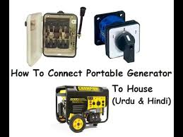 how to connect portable generator to house generator changeover