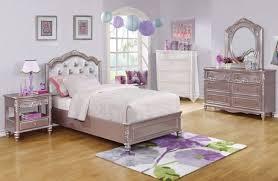 caroline metallic lilac 4 pcs twin bedroom set upholstered headboard