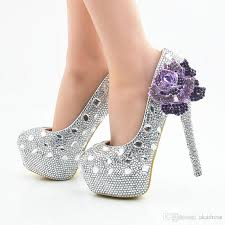 wedding shoes purple silver purple high heels wedding shoes sparkly