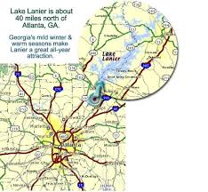 lake lanier map lake lanier area map shows you where things are around the lake