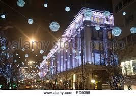 christmas decorations selfridges oxford street london red busses