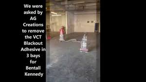 how to remove vct blackout adhesive