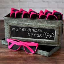 personalized sunglasses wedding favors personalized hot pink frame sunglasses party favors
