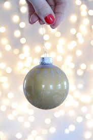 fast and easy diy painted glass christmas ornament