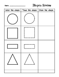 this shapes review is great for students to practice recognizing