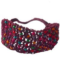 burgundy headband burgundy headband elastic thread braided with colorful