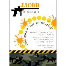 40th Birthday Invitation Cards 40th Birthday Ideas Free Printable Paintball Birthday Invitation