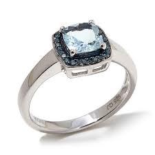 aquamarine wedding rings colleen lasting 0 97ctw aquamarine and blue diamond
