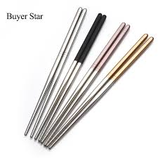personalized chopsticks buyer 5 pairs portable creative stainless steel korean
