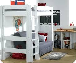lit superposé avec canapé lit mezzanine avec canape convertible fixe lit mezzanine avec canape