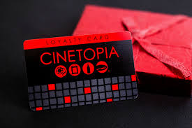 Cinetopia Menu by Movie Theater Gift Cards Plastic Printers