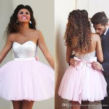light pink short dress 2017 new pink short prom dresses sweetheart top sequins tulle light