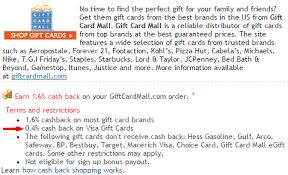 gift card mall vs giftcards get portal cashback for visa gift card purchases through gift card