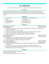 administrative assistant resume template free gfyork com