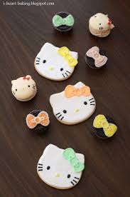 i heart baking pastel hello kitty cookies macarons and bow