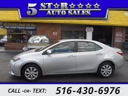 East Meadow Upholstery Used 2014 Toyota Corolla Le Plus For Sale By 5 Star Auto Sales We